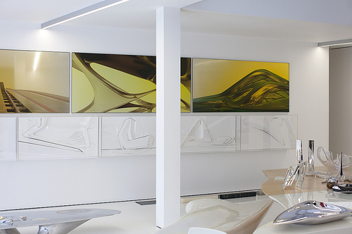 Zaha Hadid's home. Photo by Davide Pizzigoni. Courtesy of Where Architects Live