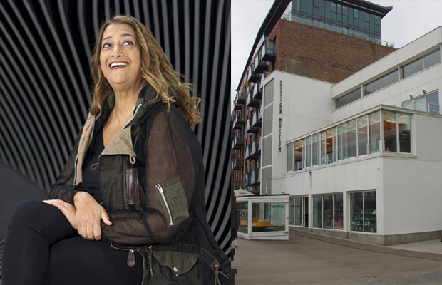 Zaha Hadid (left) and The Design Museum's Shad Thames site (right)