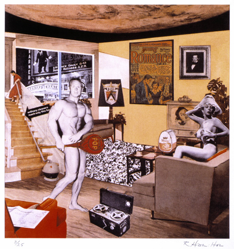 Just what was it that made today's homes so different, so appealing 1952, reconstructed 1992, by Richard Hamilton.  © The estate of Richard Hamilton