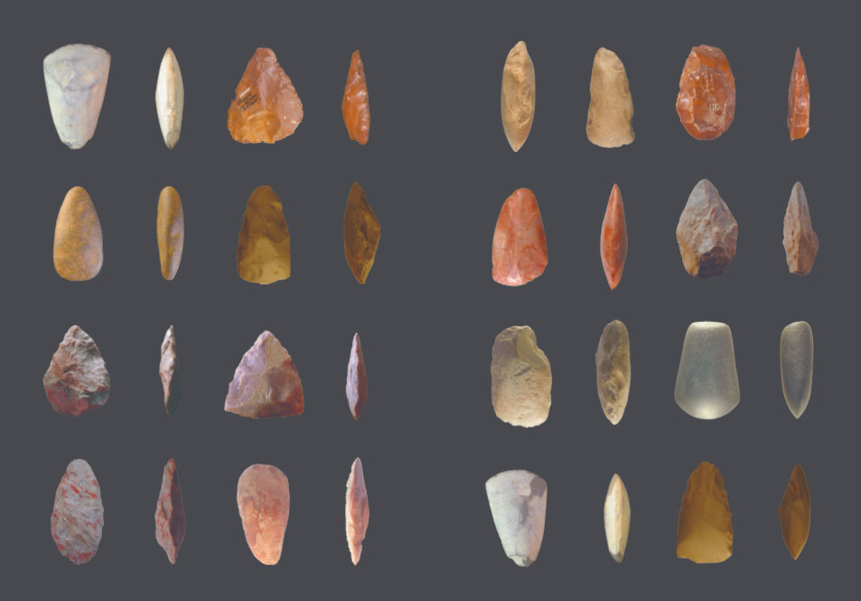 The prehistoric stone axes, as featured in Sagmeister & Walsh: Beauty