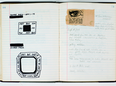 Keith Haring's journal