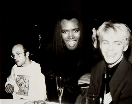 Keith Haring, Grace Jones and Nick Rhodes (1986) by Andy Warhol