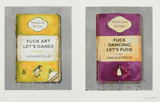Harland Miller Fuck Art Let's Dance (2011) by Harland Miller. Image courtesy of White Cube