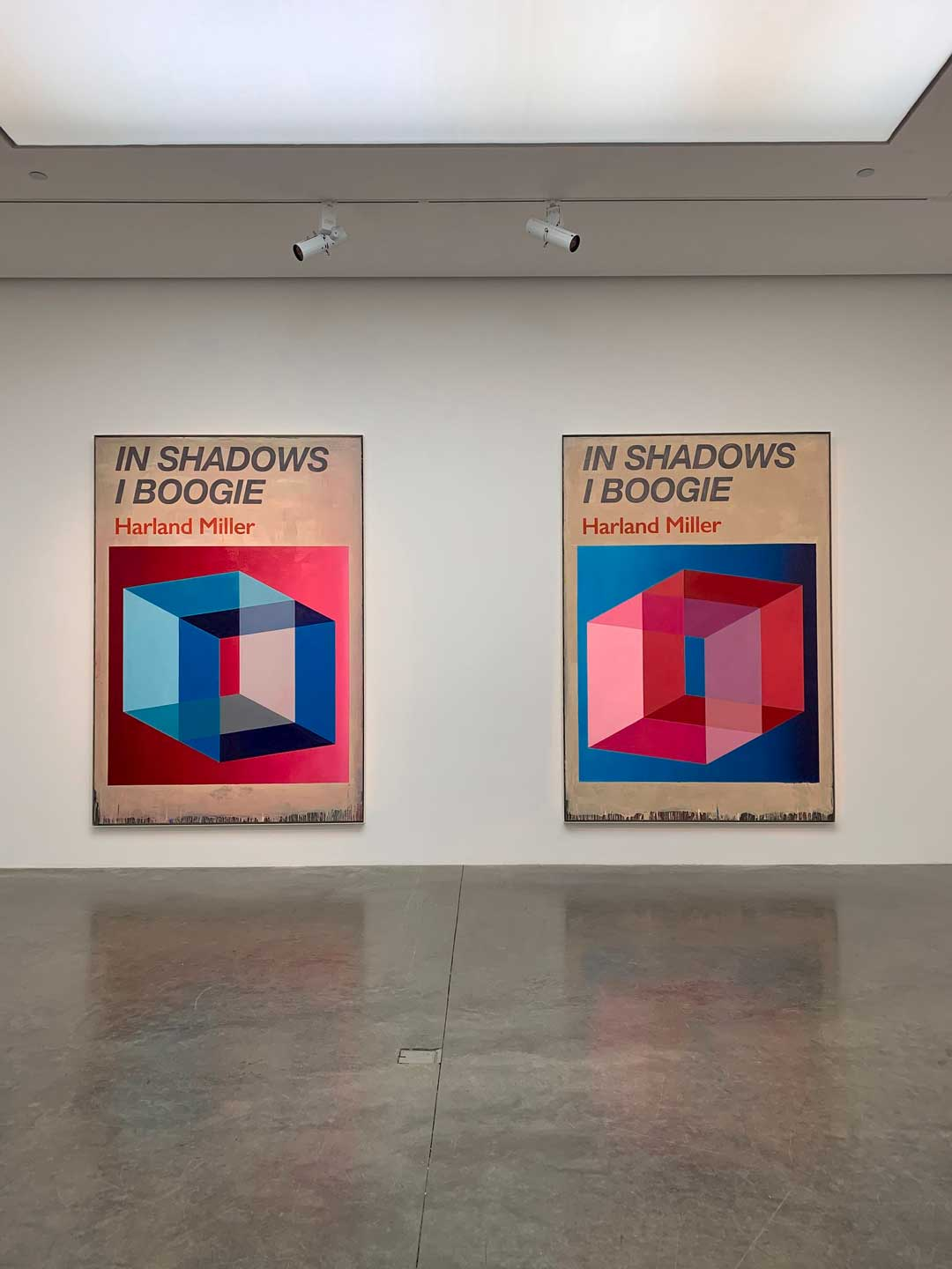 Harland Miller's paintings of In Shadows I Boogie at White Cube