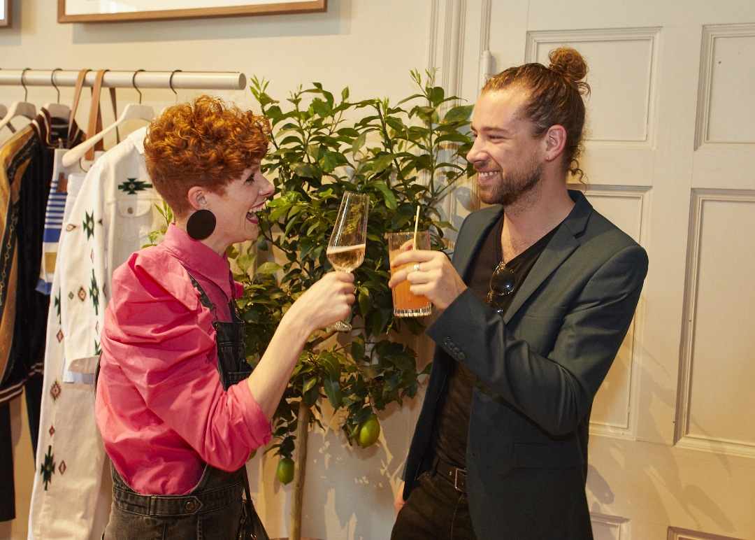 Harriet Parry and and Cyrill Tronchet at our Blooms launch