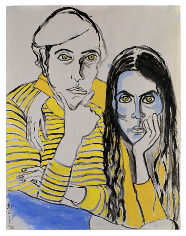 Alice Neel, Hartley and Ginny, 1970. The Estate of Alice Neel. Courtesy David Zwirner, New York/London