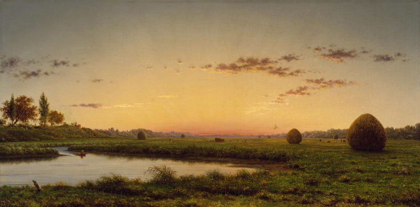 Haystacks on the Newburyport Marshes (1862) by Martin Johnson Heade