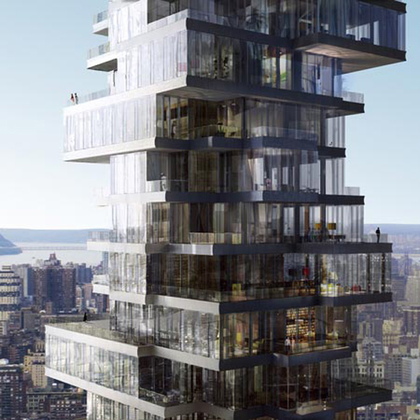 Herzog And De Meurons Jenga Tower Gets Go Ahead on fun restaurant interiors