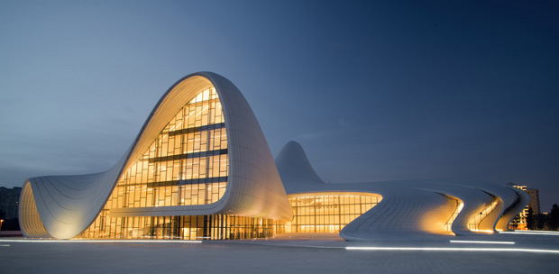 The Heydar Aliyev Centre in Baku by Zaha Hadid