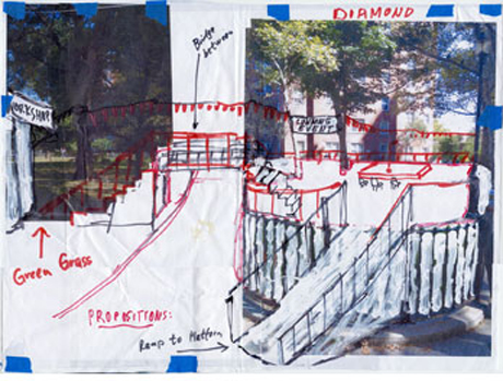 Preparatory drawings, Gramsci Monument (2013) by Thomas Hirschhorn