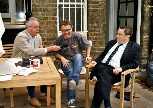 Damien Hirst (centre) interviewed by William Furlong and Norman Rosenthal, London, 2003