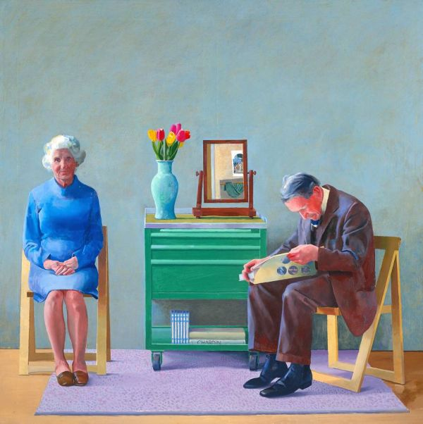 My Parents (1977) by David Hockney, courtesy of the Tate/Art Everywhere