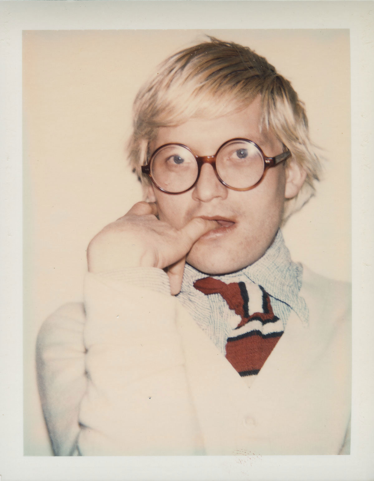 David Hockney, 1974 by Andy Warhol. From Andy Warhol Portraits