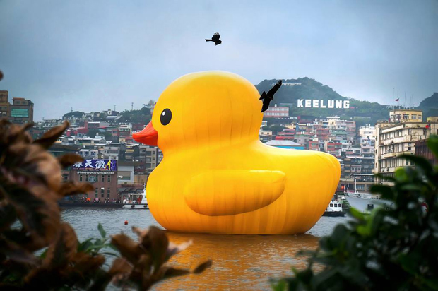 Hofman's Rubber Duck in Keelung harbour