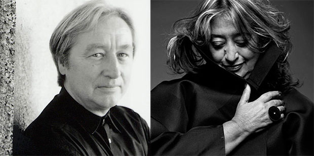 From left: Steven Holl, Zaha Hadid