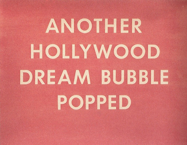 Another Hollywood Dream Bubble Popped (1976) by Ed Ruscha