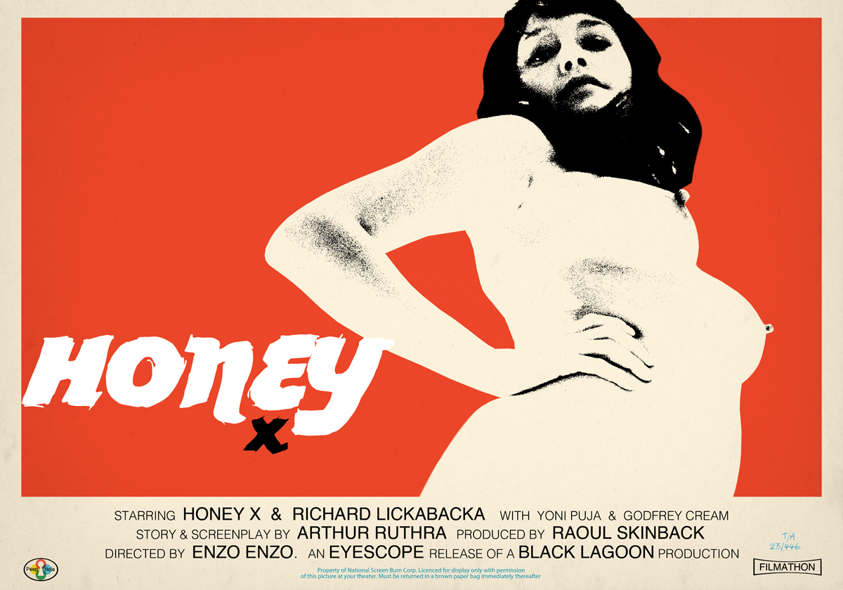 One of Jamie Hewlett's Honey posters. From The Suggestionists