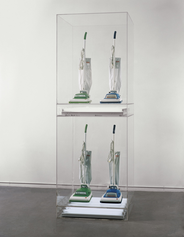 New Hoover Convertibles, Green, Blue; New Hoover Convertibles, Green, Blue; Double-Decker (1981–87) by Jeff Koons