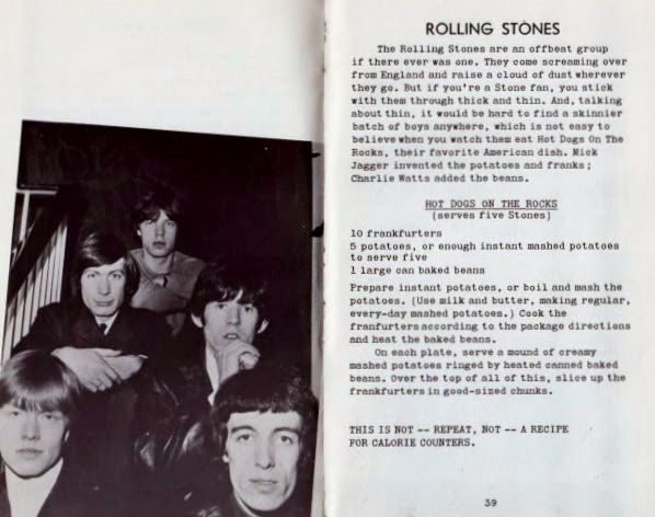The Rolling Stones in Singers and Swingers in The Kitchen. From The Cookbook Book