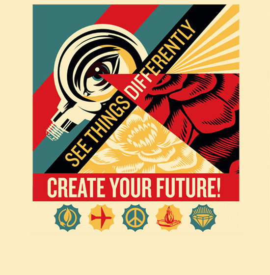 Shepard Fairey's Create Your Future campaign for LA Fund's ArtsMatter