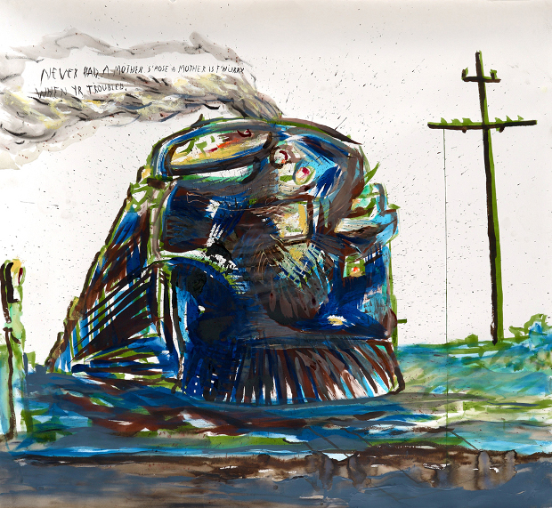 Raymond Pettibon goes back to the Steam Age