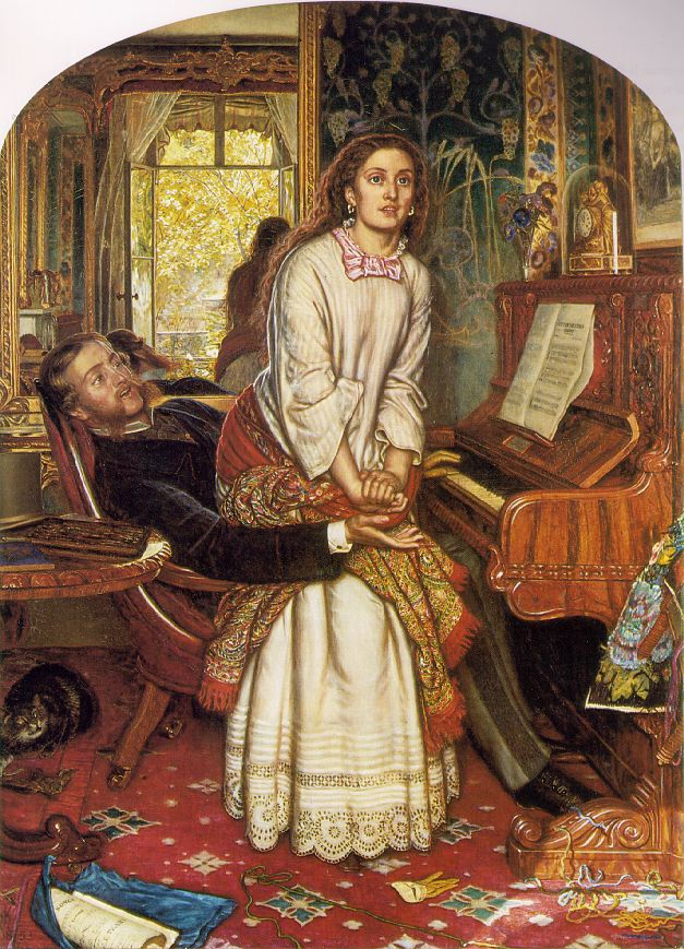 The Awakening Conscience (1853) by William Holman Hunt. As reproduced in Art in Time