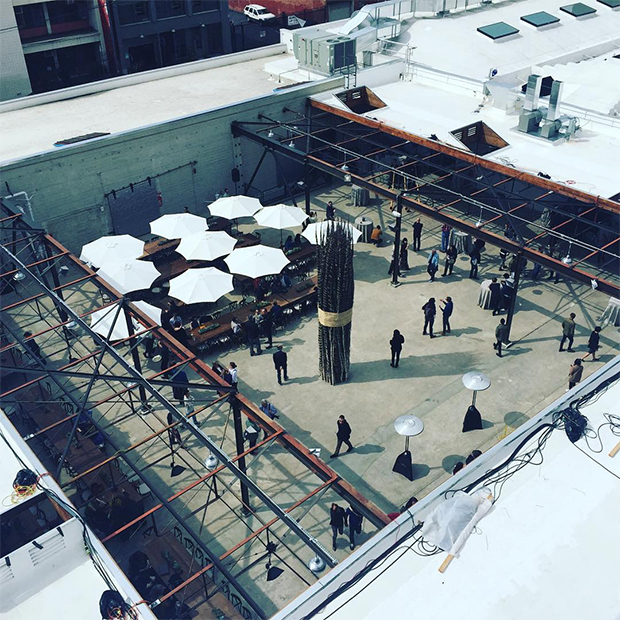 A courtyard at Hauser Wirth & Schimmel. Image courtesy of the gallery's Instagram