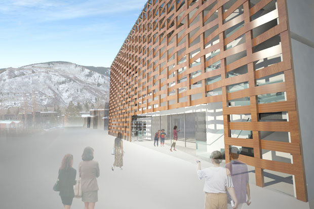 Renderings of The Aspen Art Museum - Shigeru Ban