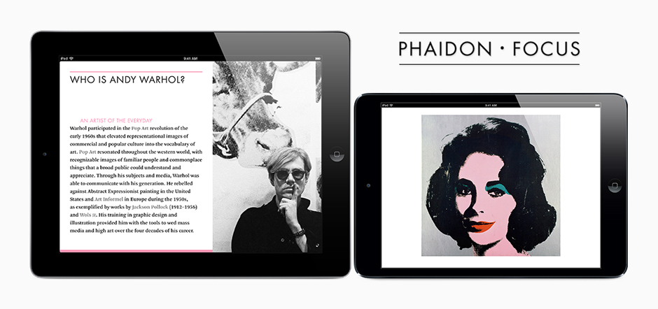 Our Andy Warhol Phaidon Focus iBook