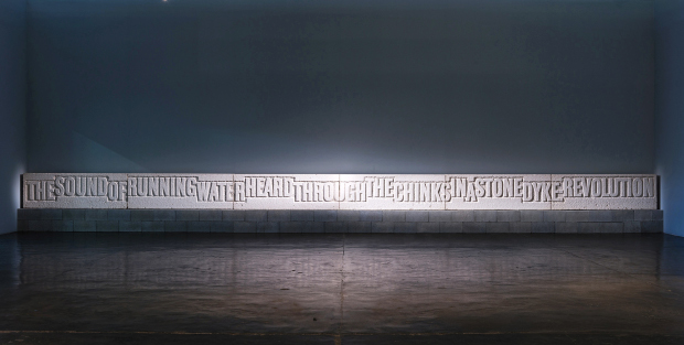 The Sound of Running Water (1990) by Ian Hamilton Finlay