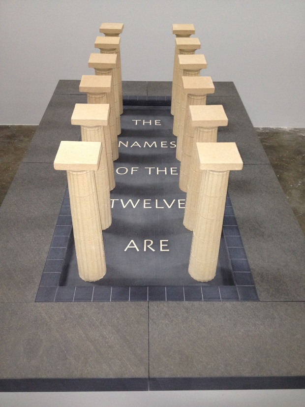 The Names of the Twelve (2005/06) by Ian Hamilton Finlay