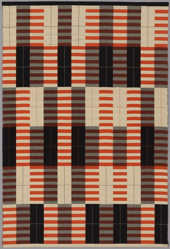 Anni Albers, Originally produced by the Bauhaus Workshop. Black-White-Red, 1926/27 (produced 1965). Restricted gift of Mrs. Julian Armstrong, Jr. © The Josef and Anni Albers Foundation / Artists Rights Society (ARS), New York.