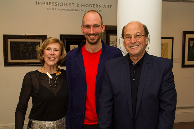 Thea Westreich Wagner and Ethan Wagner with book designer Hans Stofregen - photo Chris Carr