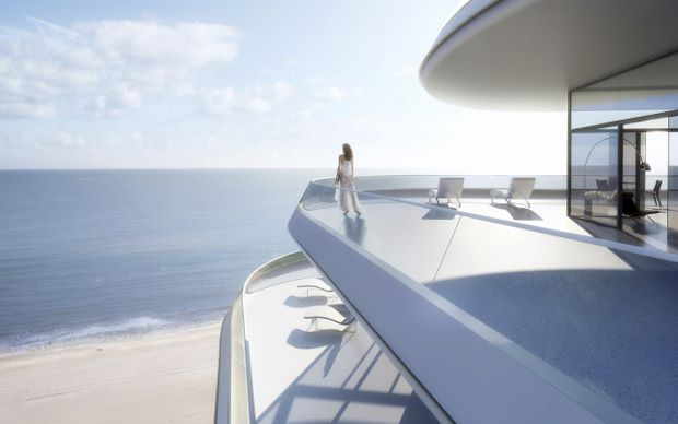 """Is that a Sugimoto, darling, or am I just enjoying the view?"" Faena House renderings, courtesy of Foster + Partners"