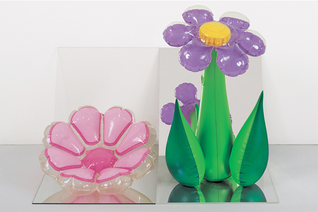 Jeff Koons, Inflatable Flowers (Short Pink, Tall Purple) (1979) by Jeff Koons