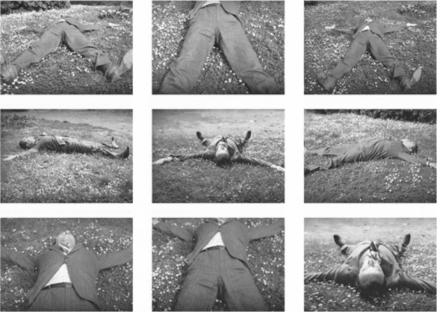 Ingeborg Lüscher, Magician Photos (Lucio Amelio), 1980. Series 1976-present Black and white photographs, each 14 x 18 cm