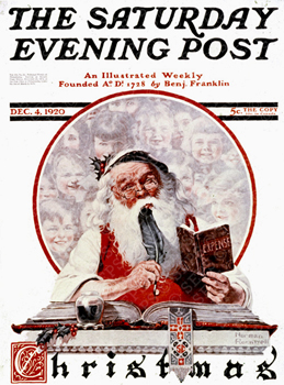 Saturday Evening Post (December 1920) designed by Norman Rockwell