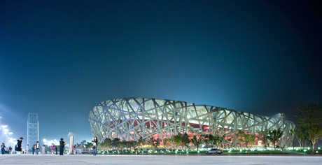 Herzog & de Meuron and Ai Weiwei's Bird's Nest Stadium photographed by Iwan Baan