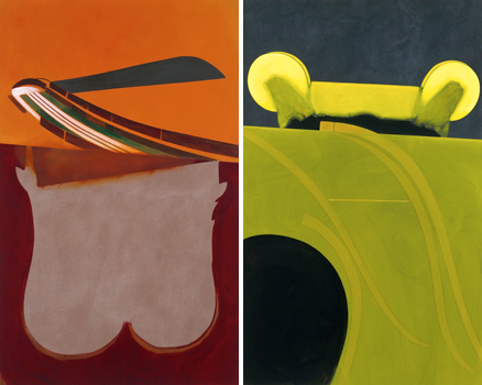 Milena Dragicevic, <em>Erections for Transatlantica (Majkl)</em> (2011) (l) and <em>Erections for Transatlantica (Ora)</em> (2011) (r)