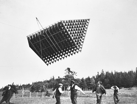 The tetrahedral kite Alexander Graham Bell developed between 1895 and 1910