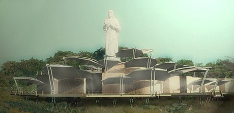 Ihosvany de Oca, concept for public pavilion near Christ of Casablanca statue