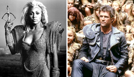 Tina Turner and Mel Gibson in Mad Max Beyond Thunderdome (1985)