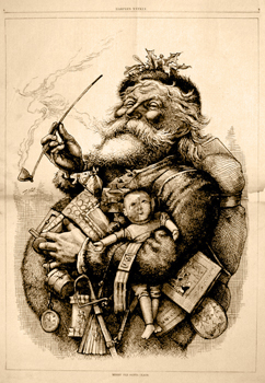 Thomas Nast, Merry Old Santa Claus, Harper's Weekly (January 1, 1881)