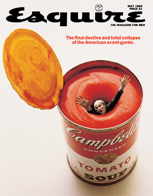 Andy Warhol on the cover of Esquire magazine (1969)