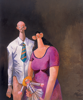George Condo, <em>The Stockbroker</em> (2002)