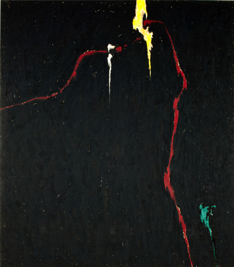 Clyfford Still, <em> 1944–N No. 1 (H-235)</em> (1944), Oil on canvas, 105 x 92 ½ in
