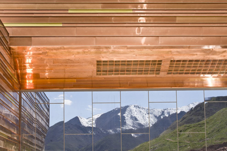 Views of the mountainous surroundings from Utah's new Natural History Museum