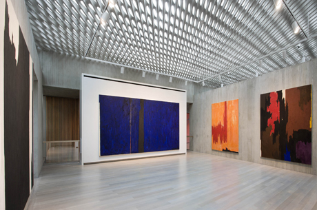 Installation view of the inaugural exhibition at the Clyfford Still Museum