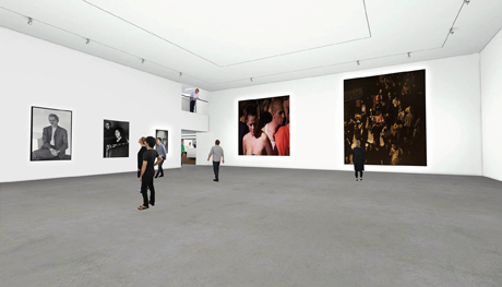 Interior view of the gallery space inside the newly refurbished Museum of Contemporary Art in Sydney