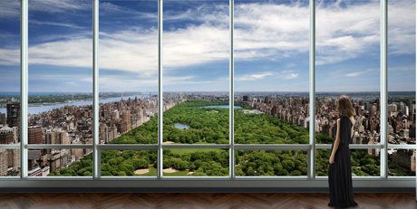 Christian de Portzamparc, One 57, view over Central Park